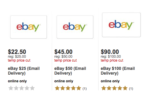 eBay Gift Cards Discounted on Target | Instant Sneaker Links ...